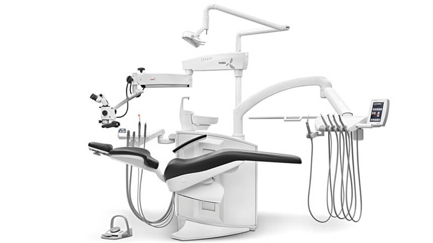 Labomed Prima DNT Microscope Dental Setup