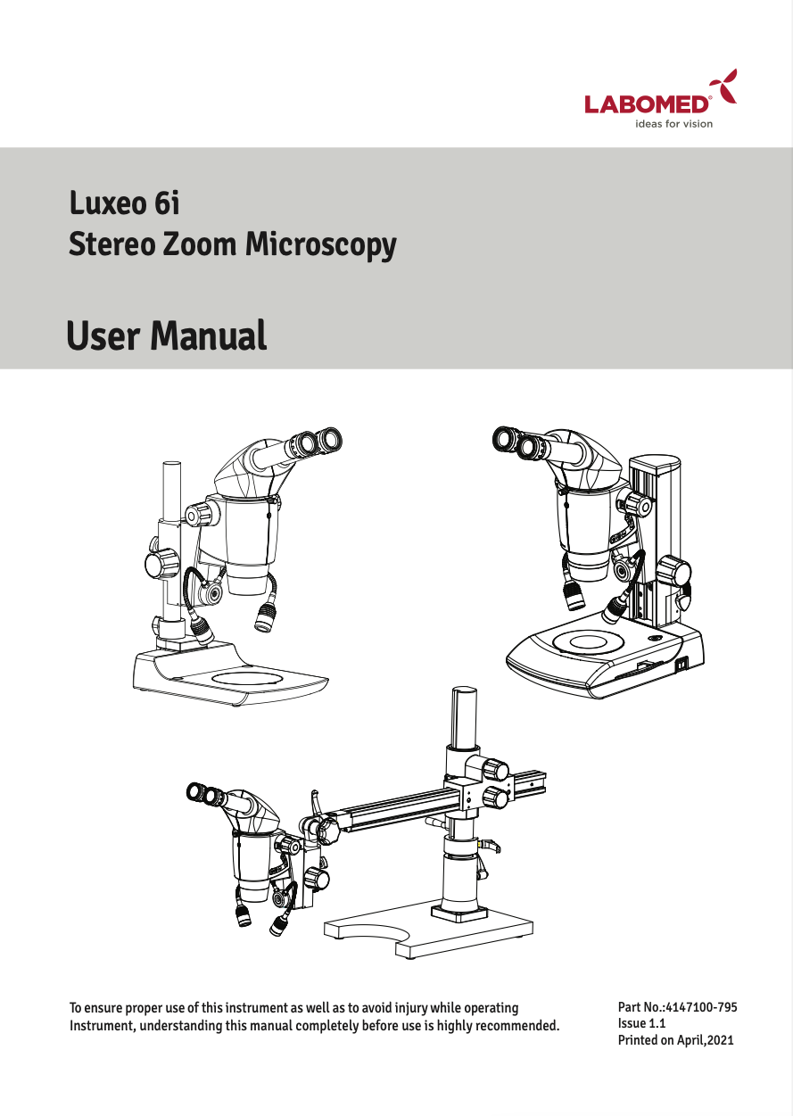 Luxeo 6i User Manual