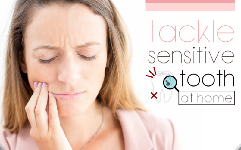 Address the sensitive tooth at home