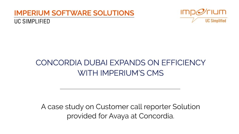 Imperium Delivered a Trusted ICT Solution to Concordia